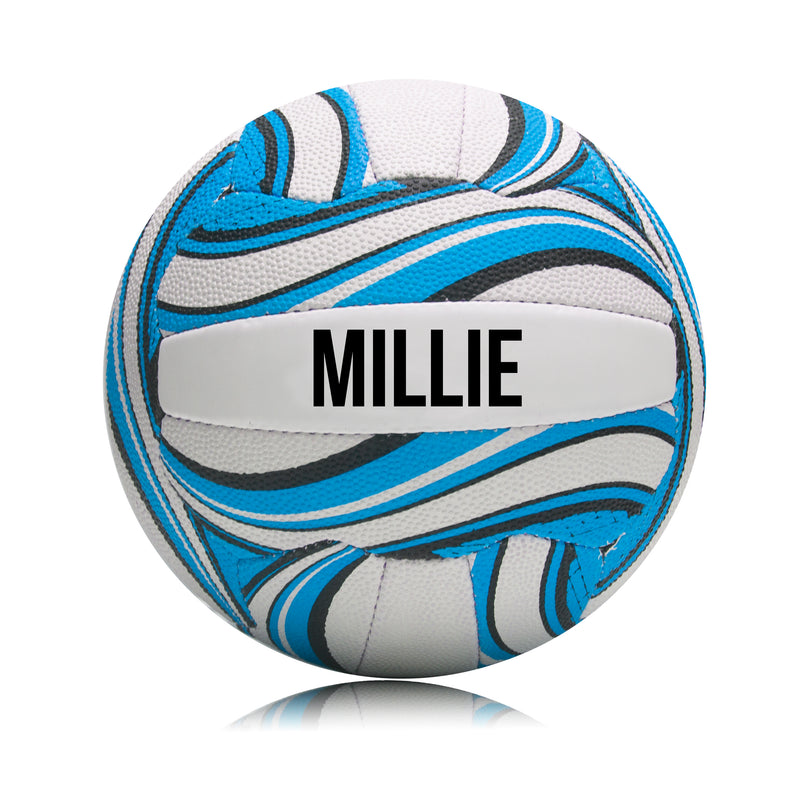 Personalised Netball Ball - Blue