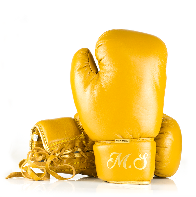 Personalised Leather Boxing Gloves - Tan Leather