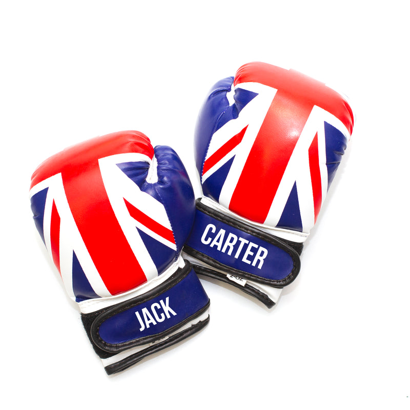 Personalised Baby Boxing Gloves - Union Jack Flag