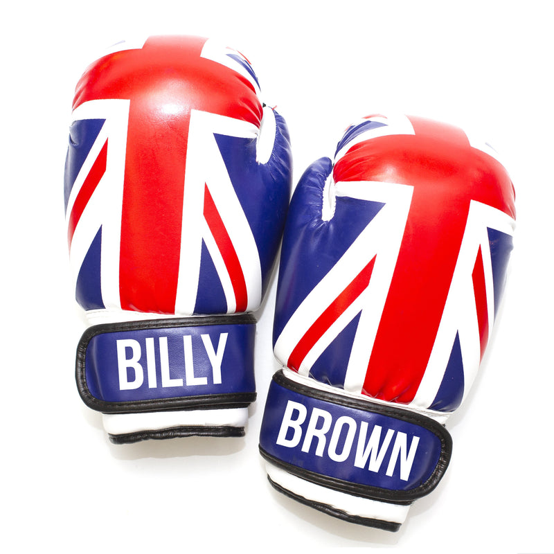 Personalised Kids Boxing Gloves - Union Jack Flag