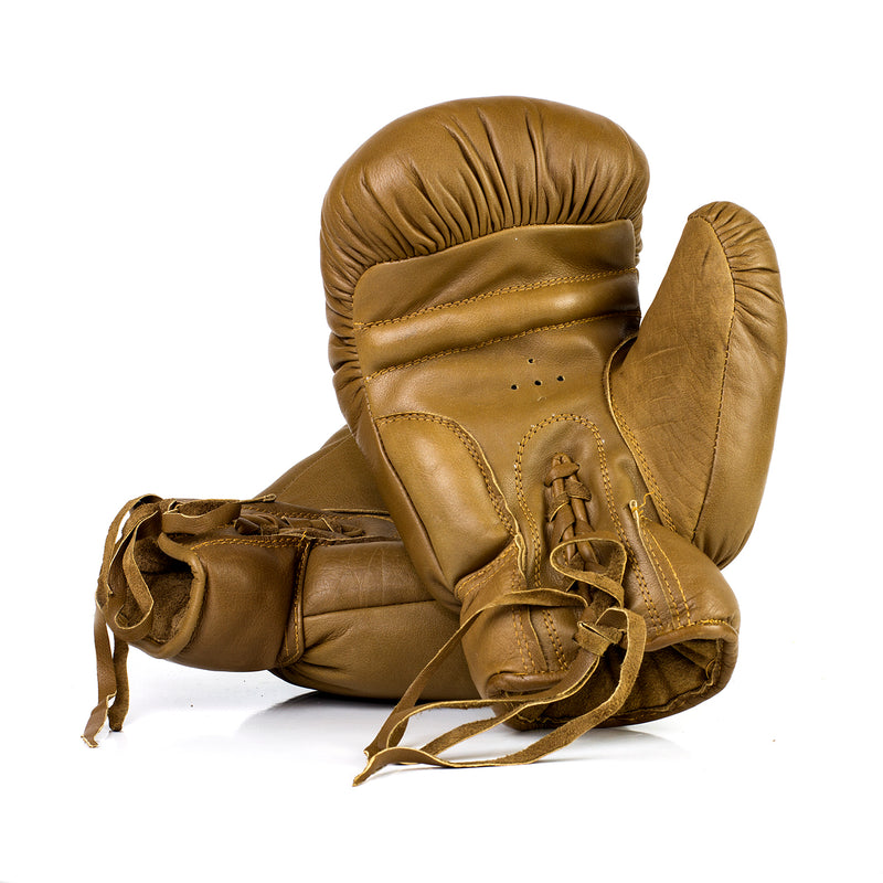 Custom Branded Boxing Gloves - Vintage Leather Lace Up
