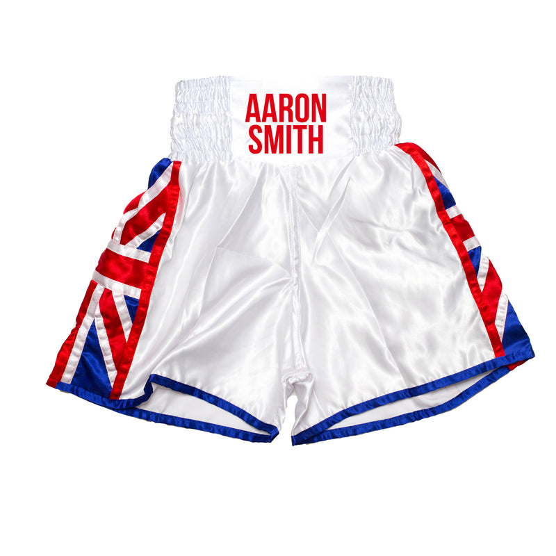 Personalised Boxing Shorts - Union Jack Kids