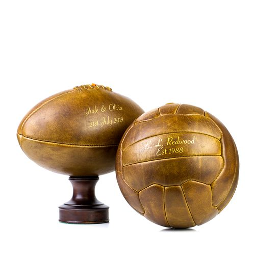 Vintage Leather Sports Balls - NOT ON THE HIGH STREET