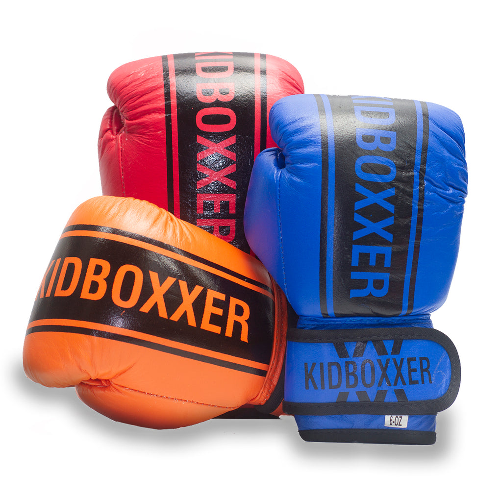 Custom Branded Boxing Gloves - Leather Kids Gloves