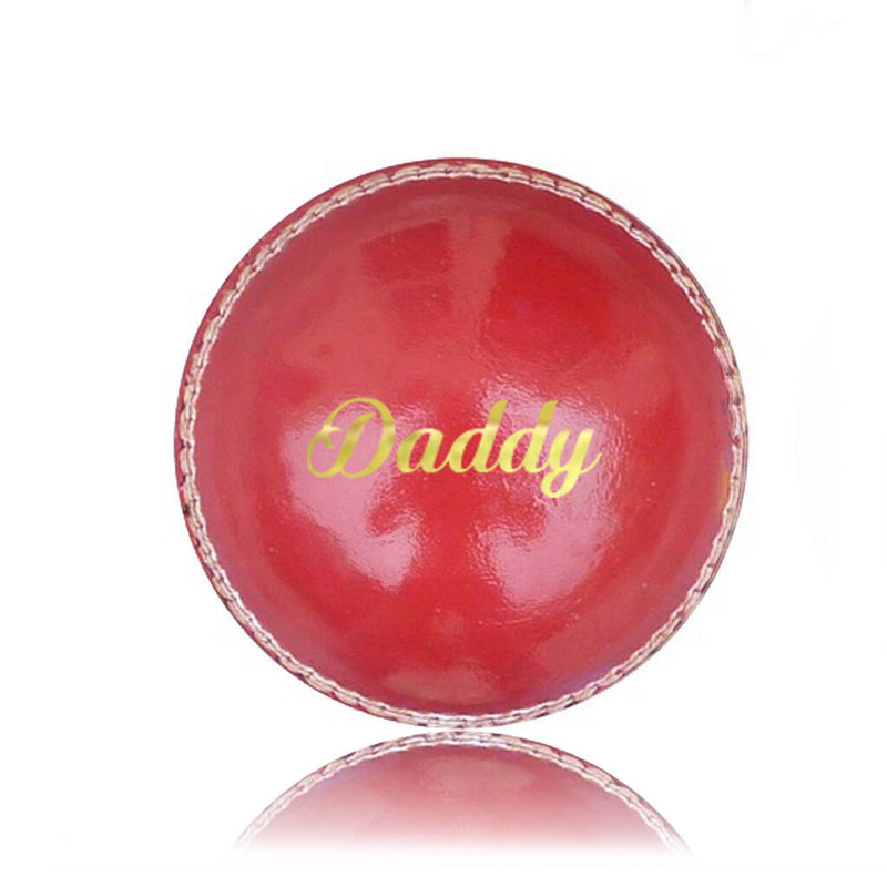 'Daddy' Personalised Cricket Ball