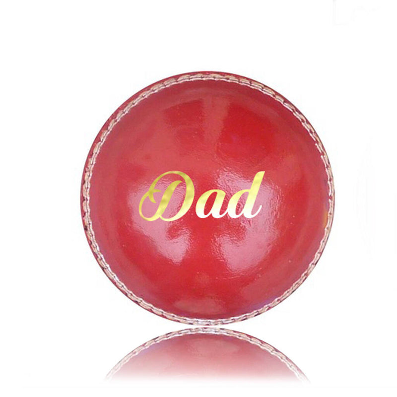 'Dad' Personalised Cricket Ball