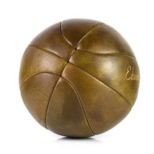 Personalised Vintage Leather Basketball - Football