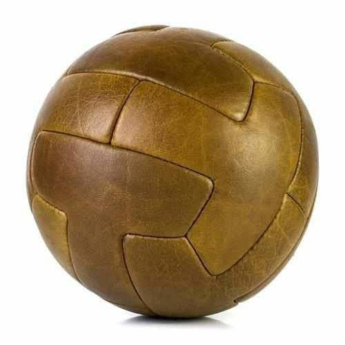 Vintage Leather Football Soccer Ball - T-Panel - Football