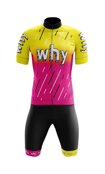 Meraki teamWHYcx cycling kit. Mens cycling apparel. Jersey, bibshort.