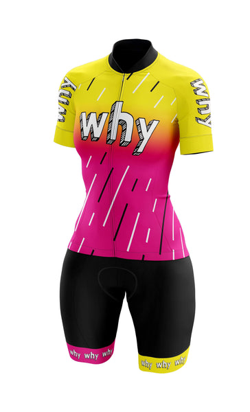 Meraki teamWHYcx cycling kit. Womens cycling apparel. Jersey, bibshort.