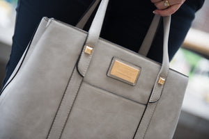 """MyPassion"" Handbag Grey by MyAlura Business Bags & Laptop Totes for Women"