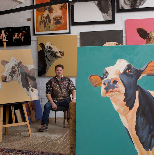 John Marshall - the inspiration behind his new solo show 'The Cows'.