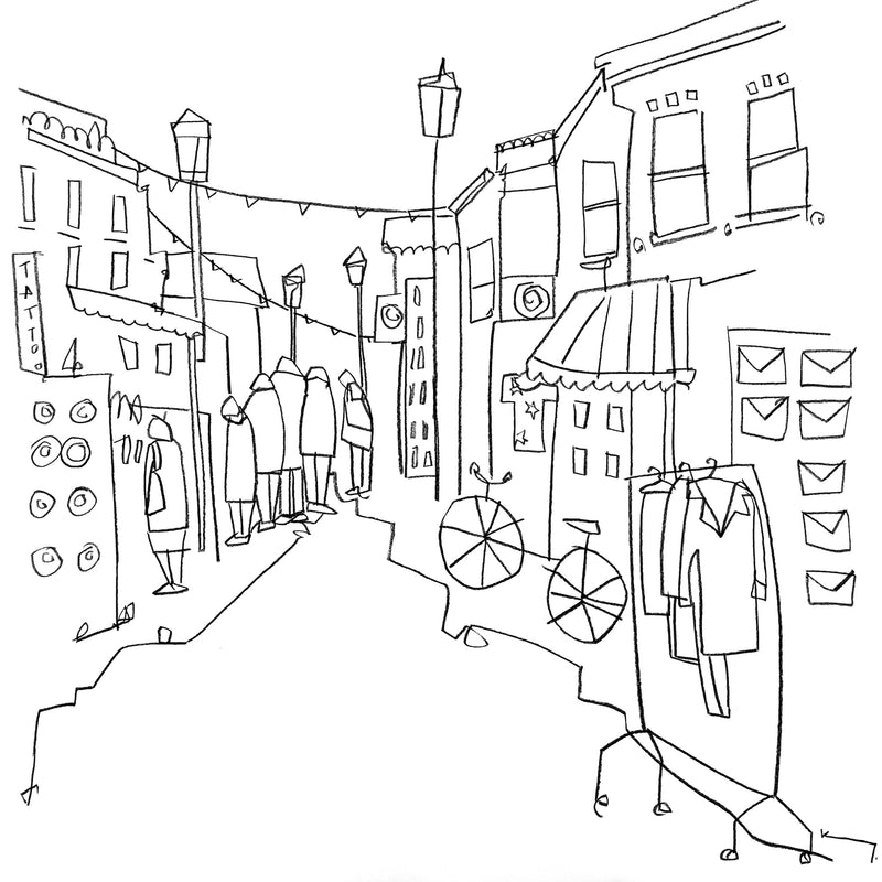 A new collection of Brighton inspired line drawings