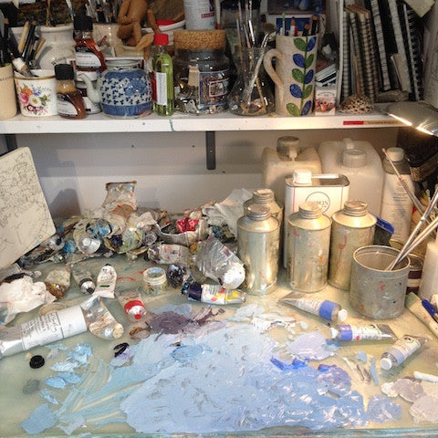 Katty McMurray's studio paints