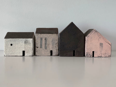 Small White and Grey Clay House