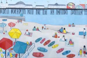 Brighton beach contemporary landscape painting