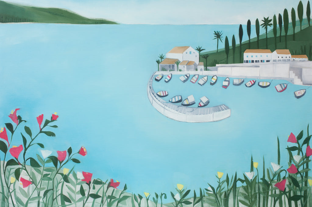 A Quiet Corner of Corfu edition print