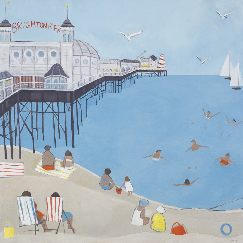 Brighton beach contemporary landscape print