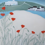 Burgh Island Poppies Oil Painting