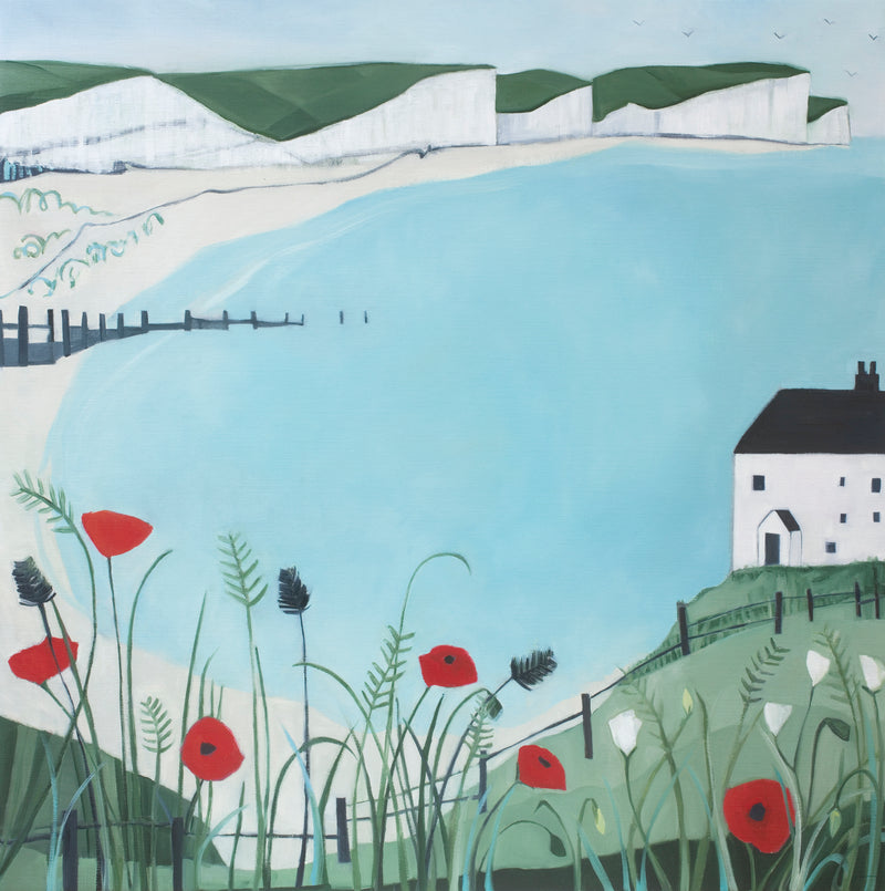 Poppies and  Coast Guard Cottage