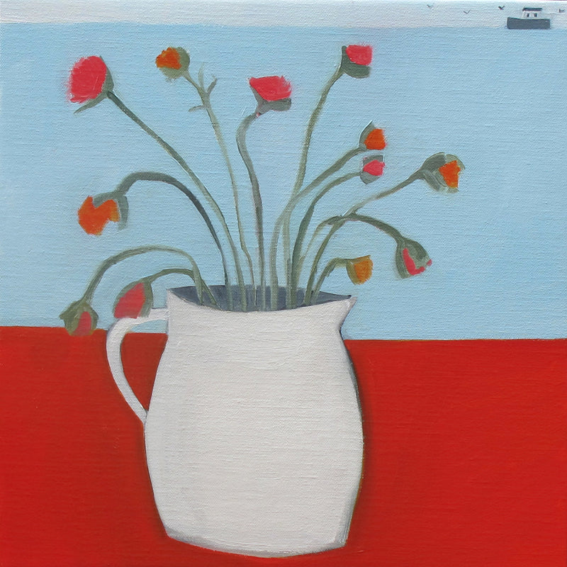 Italian Jug on Red