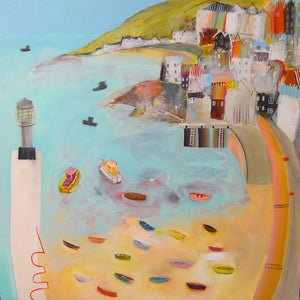 Overlooking Smeaton's Pier Oil Painting
