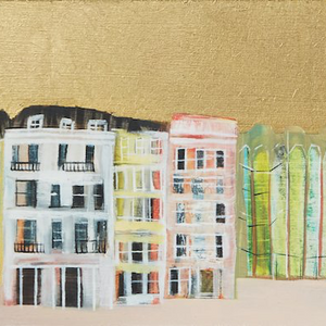 Gold Sky Brighton Panorama, hand finished with 24 carat gold leaf