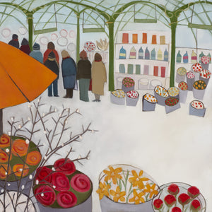 Queuing For Coffee Giclee Print
