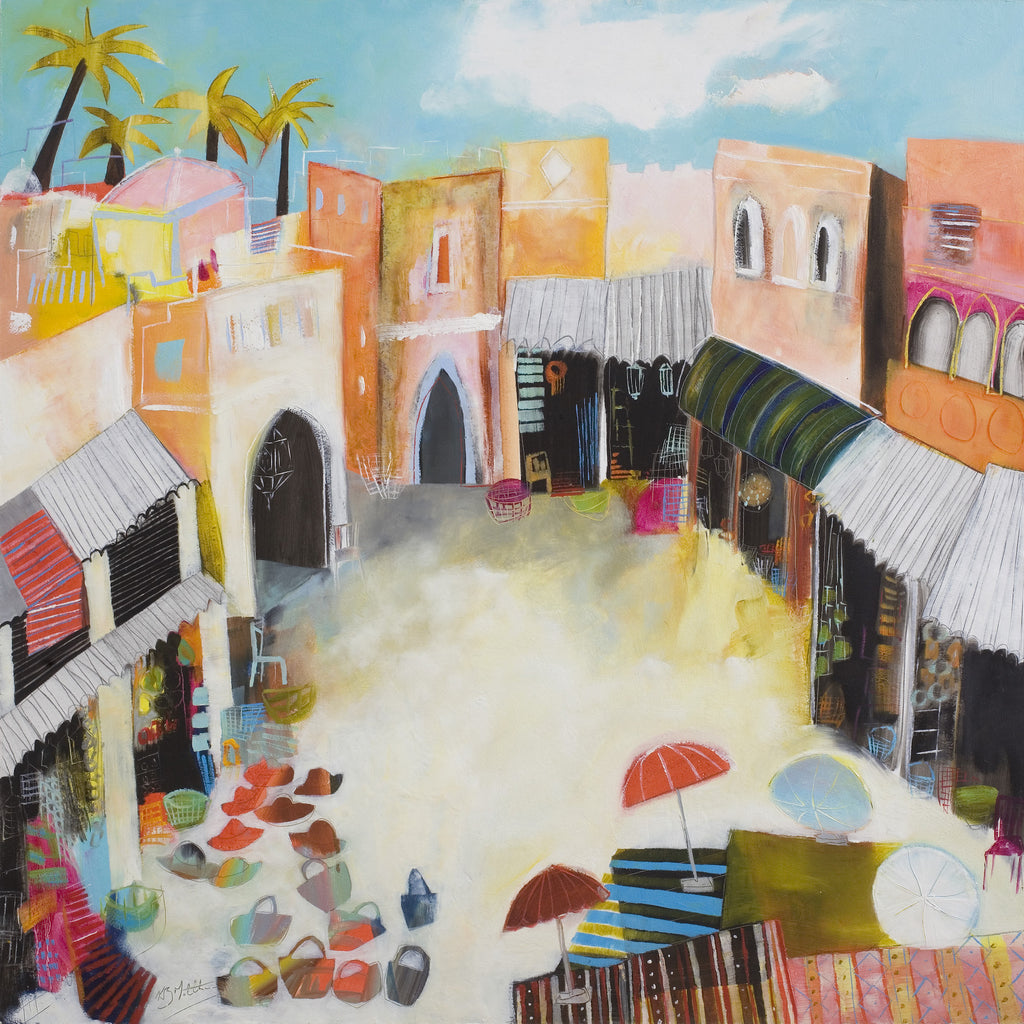 The Hat Shop In The Souk Giclee Print