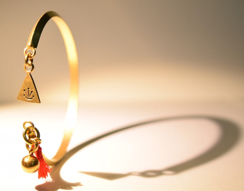 Triangular Bangles with 3 Charms