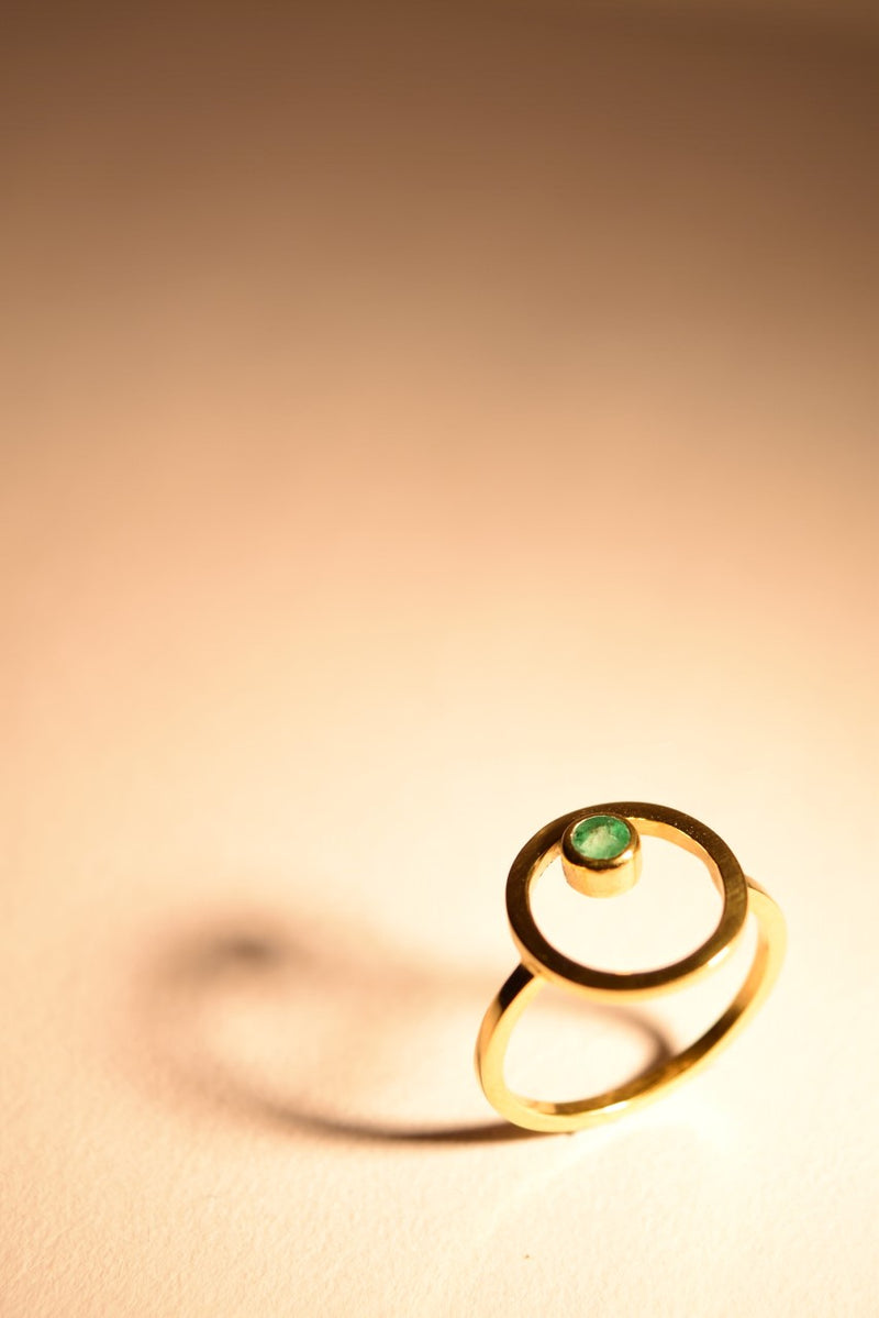 Gold Plated Belak with Emerald Ring