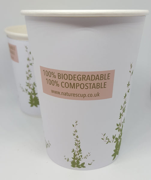 Compostable Take Away Cups 8oz 12oz Made in the UK Biodegradable