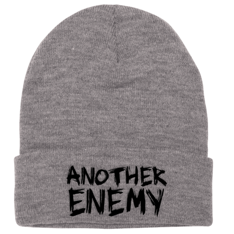 Another Enemy Logo Beanie Grey
