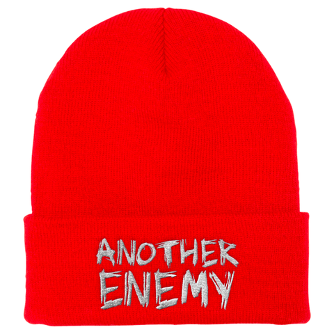 Another Enemy Logo Beanie Red