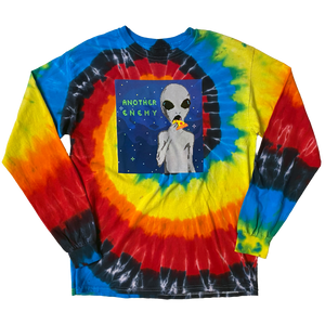 Cheesy Encounters Long Sleeve T-Shirt Illusion Tie Dye