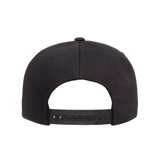 Death Metal Logo Snapback Hat Black