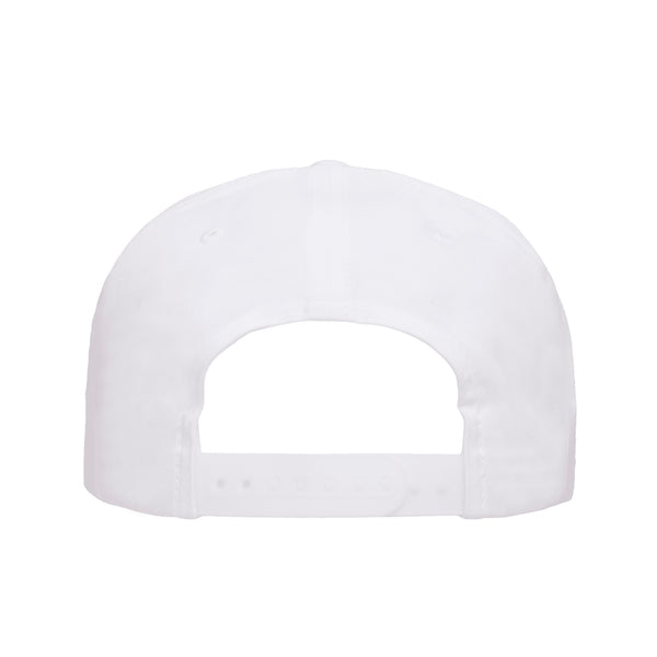 Death Metal Logo Snapback Hat White