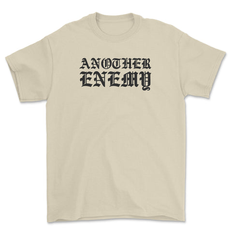 Gothic Text T-Shirt Natural