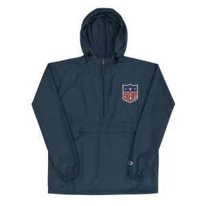 EFL Logo Embroidered Champion Packable Jacket Navy