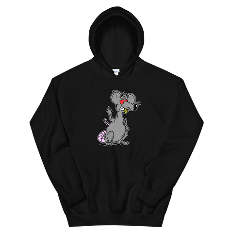 Rat Named Chet Hoodie Black