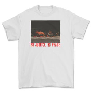 No Justice  No Peace T-Shirt White