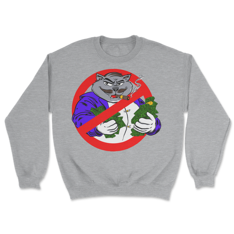 No More Fat Cats Crewneck Grey