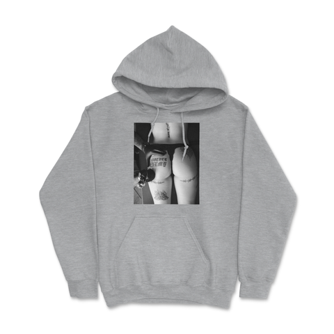 The Girl With The Another Enemy Tattoo Hoodie Grey