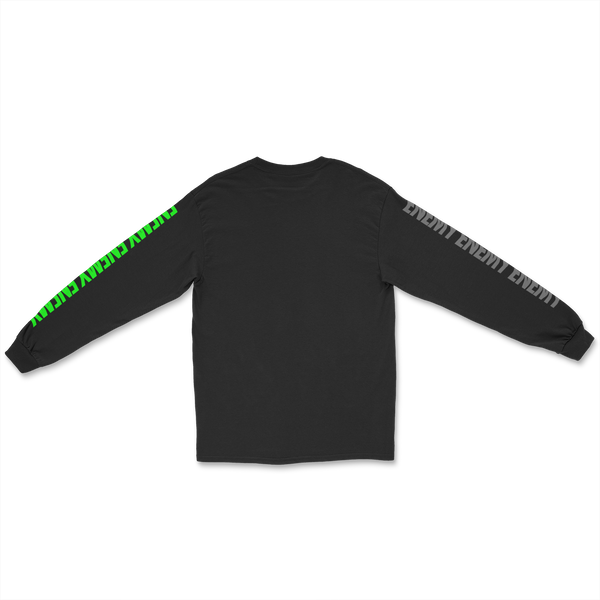 Three Peat Long Sleeve T-Shirt Black
