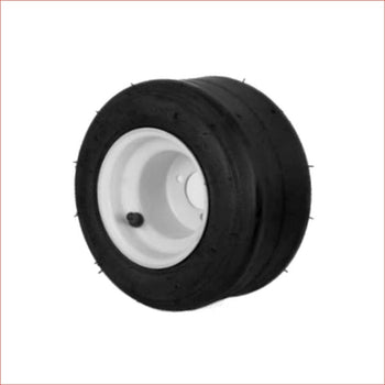 "10x4.50-5"" Super slick front Steel wheel (rim and tyre) Pair (x2) - Helmetkarts"