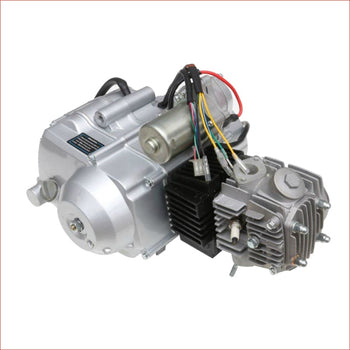 150cc Engine - Semi Automatic w/ Reverse Horizontal engine