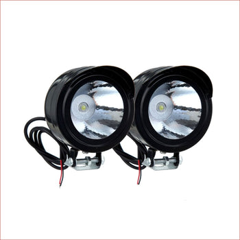 "2.5"" LED Fog light 10 watts - Black - Helmetkarts"