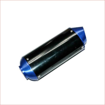 38mm Blue CNC alloy exhaust muffler - Helmetkarts