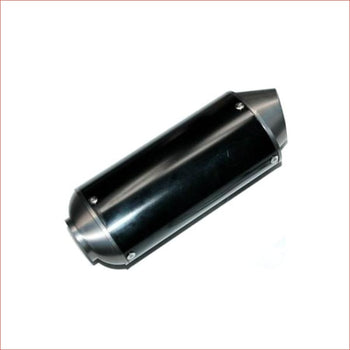38mm Gun metal CNC alloy exhaust muffler - Helmetkarts