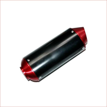 38mm Red CNC alloy exhaust muffler - Helmetkarts